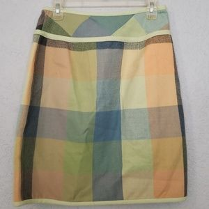 Nine & Co. Skirts - NINE womens skirt - plaid w accent buttons, warm 6